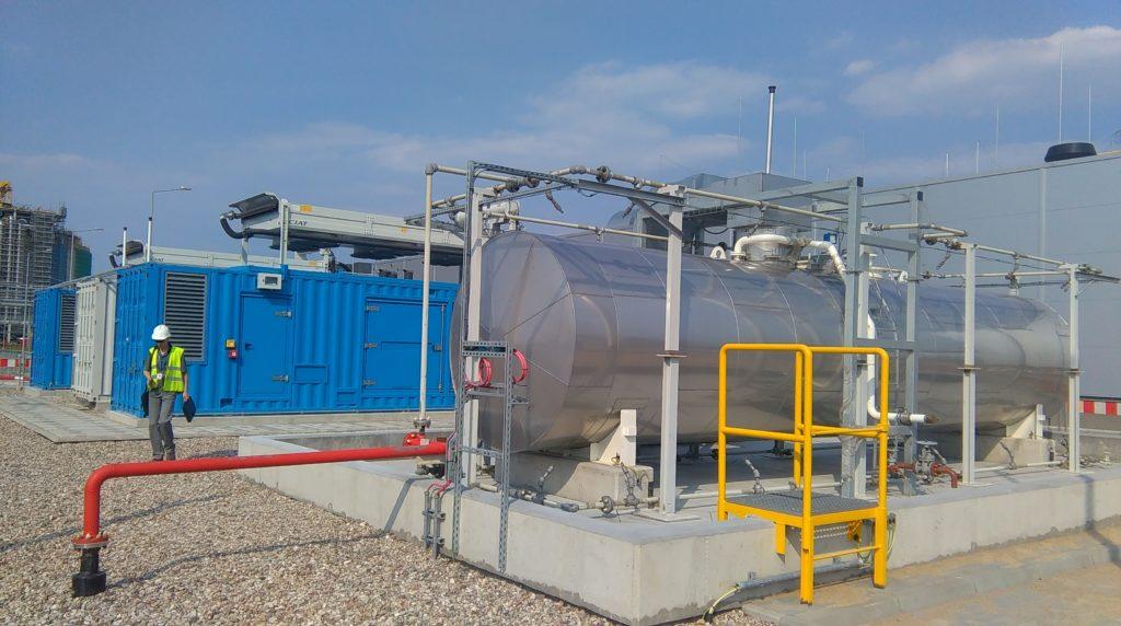 kontener techniczny w którym są 4 Kerysy - Flipo Energia