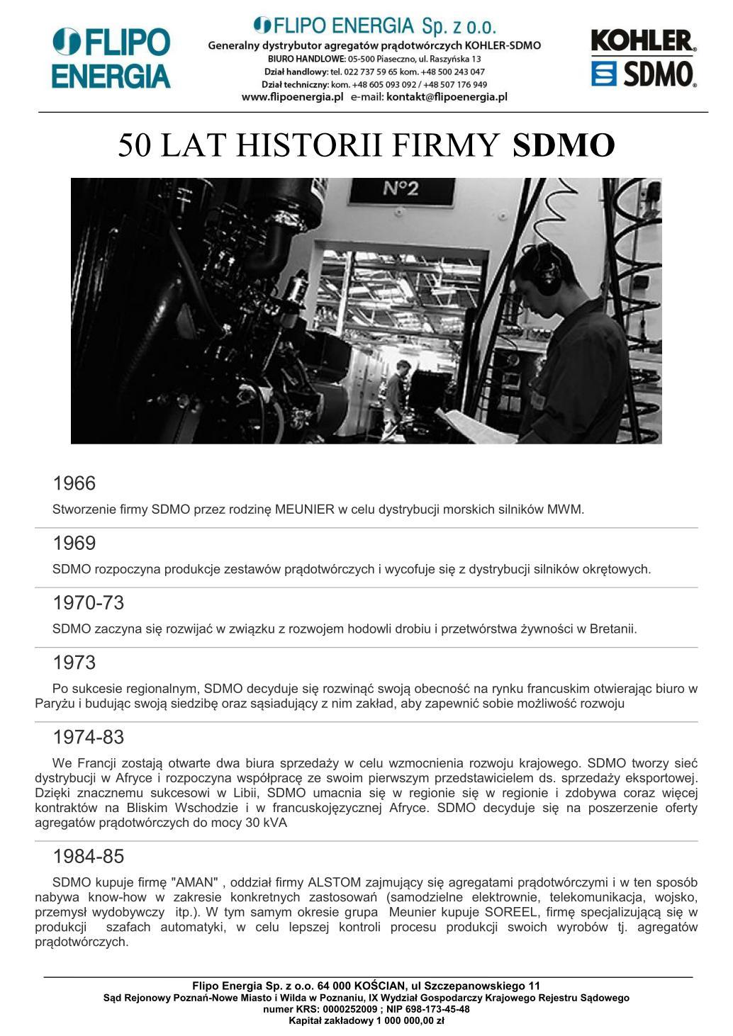 Historia firmy SDMO 20200831